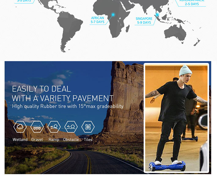 New Power Balance Scooter 8.5inch hoverboard app DE RU ES stock electric self balancing skateboard Musicoverboard adults oxboard