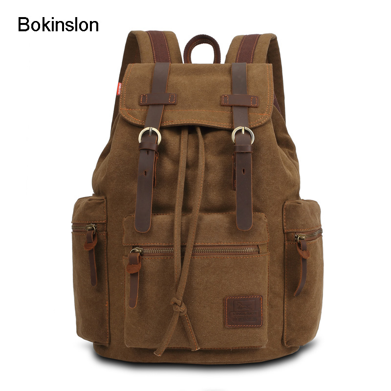 Bokinslon Men Backpack Bogs Practical Large Capacity School Backpacks For Boys Fashion Popular Mens Brand Casual Bags<br>