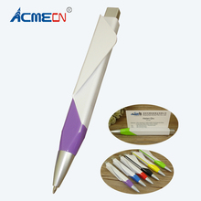 ACMECN 6pcs / lot Hot sale Ballpoint Pen Square Name Card Plastic Ball Pen Cool Plane Design Pen Back to School Stationeries