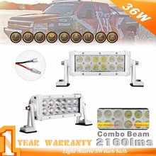 4PCS 8INCH  36W 2100LM white Combo Beam LED Light Bar Off road UTV ATV 6000K work light