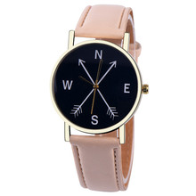 Hot sale new watch Beige costly quartz watches fashion leisure business PU leather strap brand sports watch Wrist Womens(China)