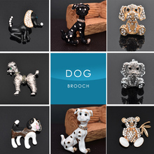 Dog Brooches Black Big Scarf Sweater Shoulder Collar Jewelry Pins Kids Men Women Gifts(China)
