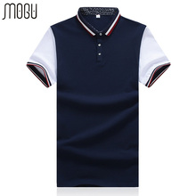 MOGU Patch Work Men's Polo Shirt With Short Sleeve 2017 Summer New Fashion High Quality Men Brand Polo Asian Size Polo Shirt Men