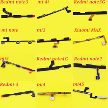 volume up/down+power on/off Button Flex Cable For XIAOMI MAX 1S 2A 3 MI3 mi4 4C Redmi note2/3 3G 4G phone Repair Parts
