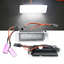 2x LED Licence Number Plate Light for Opel Vauxhall Mokka Insignia Sports Tourer VXR8 for Chevrolet for GMC for Cadillac XTS SRX