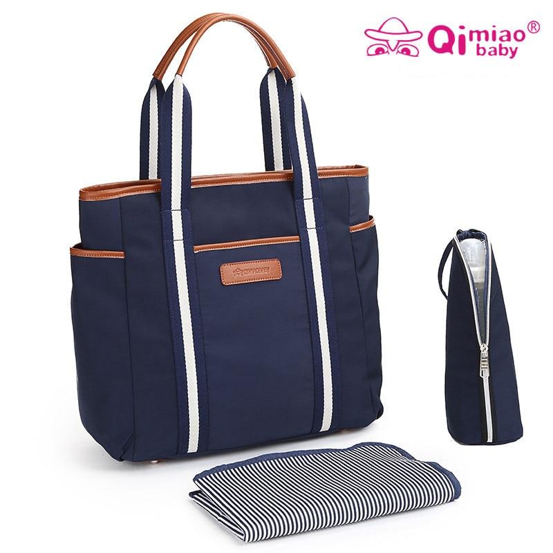 3pcs/Set Baby Nappy Bags Diaper Bag Mother Shoulder Bag Fashion Maternity Mummy Handbag Insulation Waterproof Baby Stroller Bag<br>