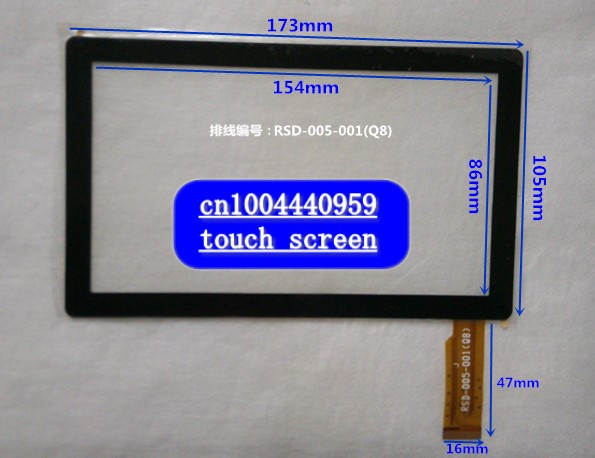 Touch screen for RSD-005-001(Q8)   WJHF<br><br>Aliexpress