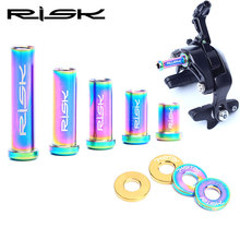 RISK M6*10/15/20/25/30/40mm Titanium Road Bike C Brake Calipers Bolts For Shimano 105/ULTEGRA/DURA ACE Bicycle Disc Brake Screws