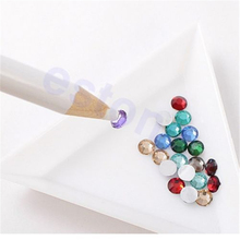 10pcs/lot Professional Wax Dotting Pen Nail Art Rhinestones Gems Picking Crystal Tools Pencil Pen Easily Pick Up Pen Manicure