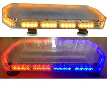 United Safe free shipping ESM0127 low profile GEN III 1 Watt super bright LED mini Warning Lightbar(amber/blue/red/white)