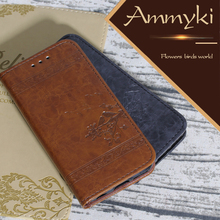 AMMYKI creditable quality Extreme design Four-color flip leather back cover 4.0'For Samsung Omnia M S7530 case(China)