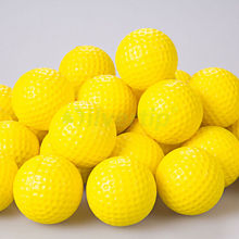 10Pcs Plastic Golf Ball Outdoor Sports Yellow Golf Balls Golf Practice Training Balls Training Aid(China)