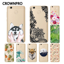 CROWNPRO Soft Silicone TPU Xiaomi Redmi 4X Case Cover Painted Protective Back Funda Xiaomi Redmi 4X Pro Case Phone Redmi 4X Case