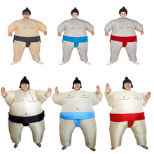 Purim Inflatable Sumo Suits Wrestler Christmas Halloween Costume for Women Adult Kids Cosplay Santa Claus Ride on Reindeer Olaf(China)