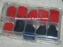 100 piece Guitar Picks Jazz III picks Red and Black withcase top selling Free Shipping