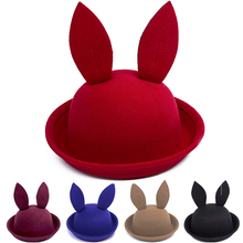 2017 New Fashion Baby Summer Cap Bucket Hats For Girls Rabbit ears Cap For Children Sun Hat Caps Boy Girl Baby Hat(China)
