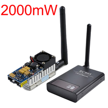 FPV Wireless Audio Video Sender 5.8Ghz 2W 2000mW 8 CH TS582000 and RC805 5.8G Receiver