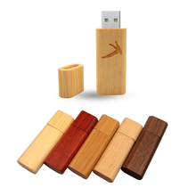 Wooden Personality Creative Gift Customized Wood U Disk USB2.0 Pen Drive 4G 8GB 16GB 32GB 64GB USB Flash Drive (10pcs free logo)(China)