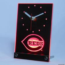 tnc0565 Cincinnati Reds Table Desk 3D LED Clock