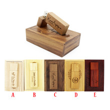JASTER LOGO customized natural Wooden chip usb flash drive pen drive pendrive 4gb 8gb 16gb 32GB memory Stick wedding gifts(China)