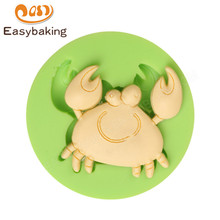 Cute Crab Silicone Art Mold Baking Mould Clay Fondant Sugarcraft Decorating Tool Cake Topper Bakeware Kids Gift(China)
