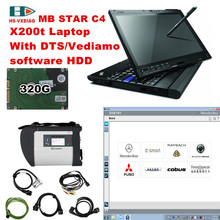 For mercedes benz star diagnosis sd connect C4 and Laptop X200t with 2017 09 Software 320G HDD auto diagnostic tool MB Star C4