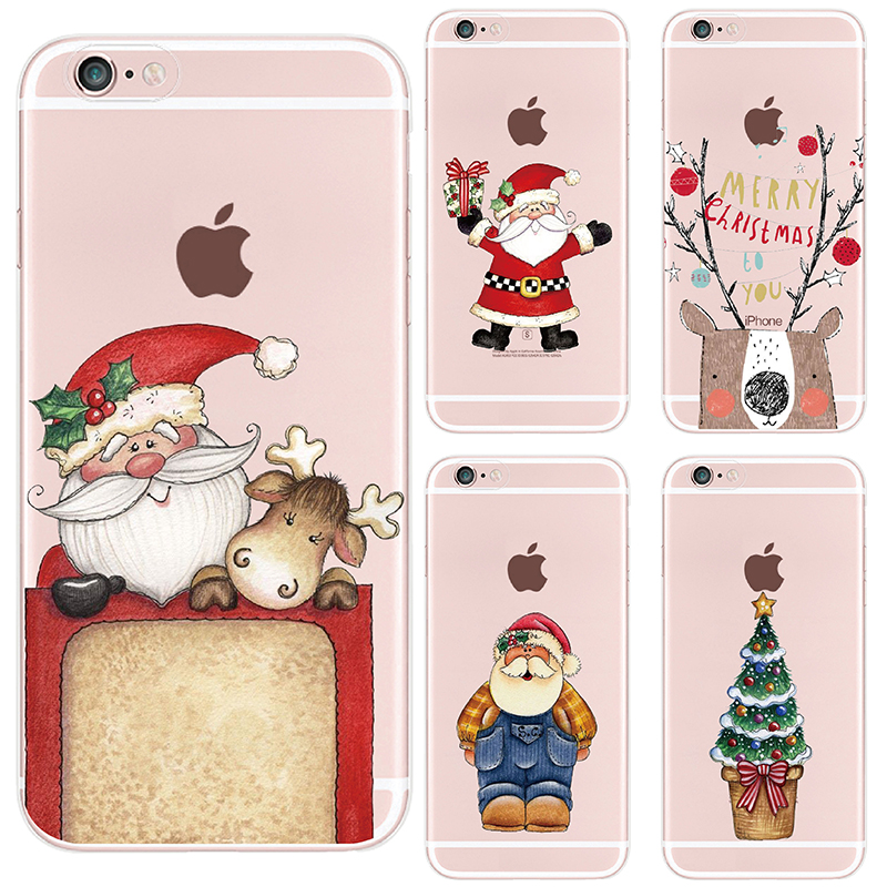 TOMOCOMO iPhone 7 7Plus 6S 6Plus 5 5S 8 8Plus X Christmas Present Hat Santa Cap Fashion Soft TPU Printed Phone Case Cover