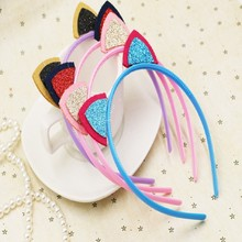5pcs/lot 2016 New Style cute baby hollow out cat ear headbands girls/Infant hairbands kids head band children hair accessories
