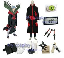 Apparel Naruto Akatsuki Zetsu Cosplay Costume With All Accessories Set For Halloween Party Free Shipping