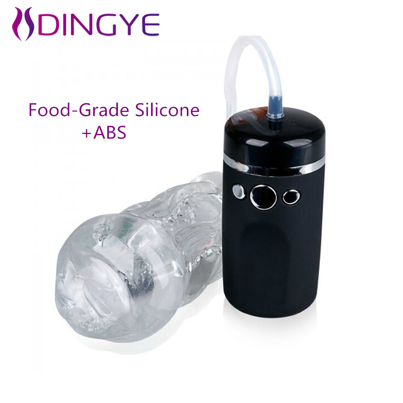 2016 New Arrival Food-Grade Silicone Male Masturbator Cup 10 Speed Strong Sucker And Vibration Pussy For Men Sex Product<br>