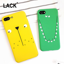 LACK Cartoon Crocodile Hard PC Phone Cases Cute Animal Dog Capa Ultra-thin Back Cover For iPhone 7 Case For iphone 7 PLus Capa(China)
