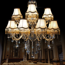 Modern Chandelier Lustre Crystal Chandeliers 15 Arm  Optional Lustres De Cristal Chandelier With Lampshade large chandelier