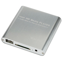 Multi Memory Card 1080P Mini HDD Media Player MKV/H.264/RMVB HD with HOST USB/SD Card Reader Hot Worldwide
