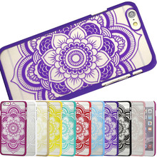 "GREAT PRICE New arrival Case for iphone 6 6s 4.7"" inch PC plastic back Cover Protective shell National Flower pattern Skin"