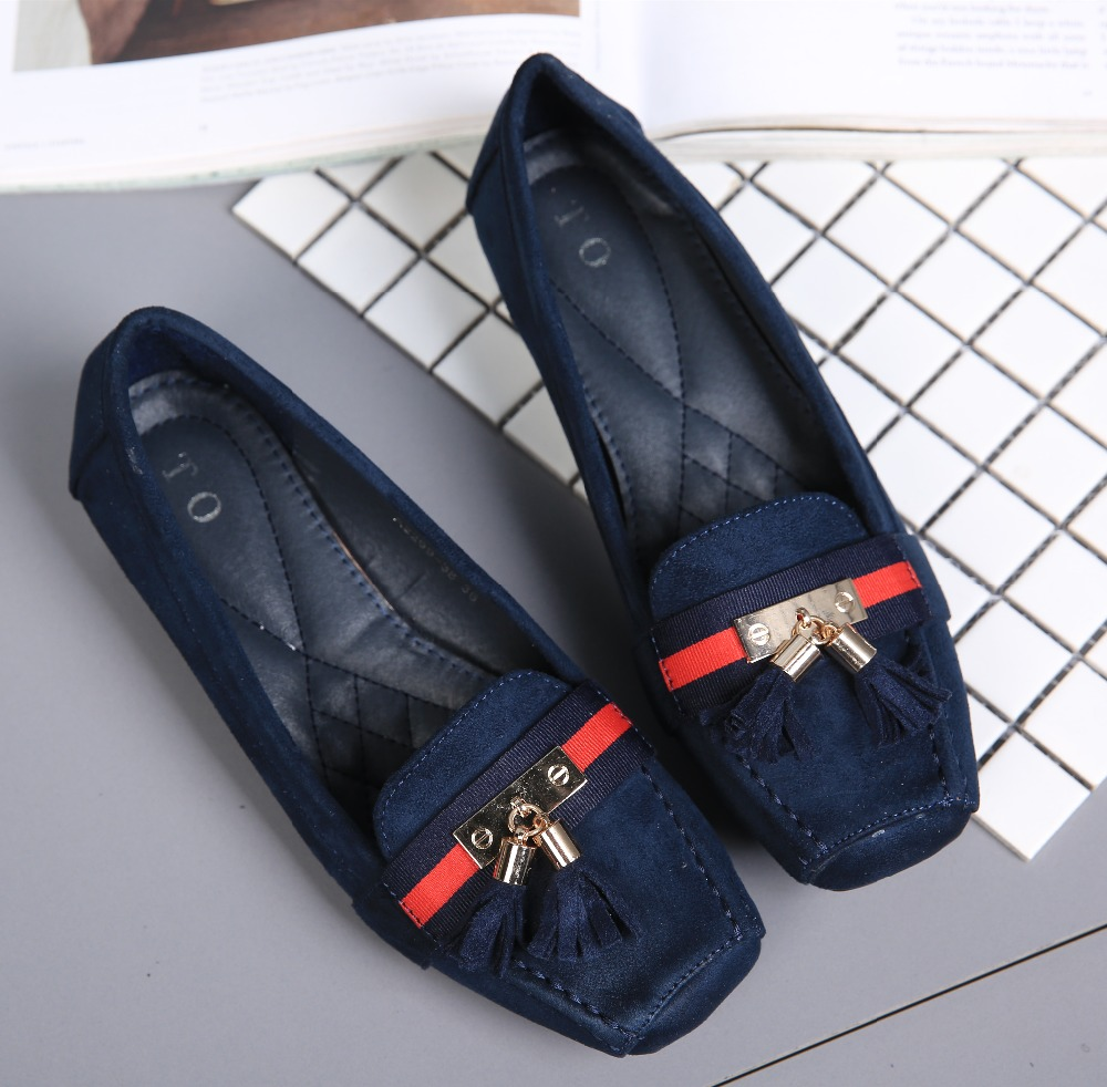 2017 Brand Flats Women Soft Leather Flats High Quality Weave Square Toe Ballerina Women Loafers Ballet Flat Slip On Office Shoes<br><br>Aliexpress