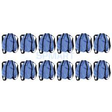 12Pcs Cloth Blue Shopping Backpack Shoulder Bag with Elastic Band for Barbie Dolls Accessory Collection Dolll House Decoration