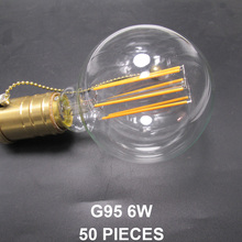 Free & Fast Shipping DHL/FEDEX/UPS/TNT/EMS 50 pcs G95 E27 X-Shape Thread LED Filament Edison Light Bulb G30 E26 4/6/8/10 Watt(China)