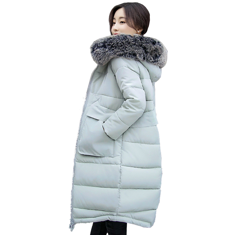 Abrigos Mujer New Winter Long Cotton  Jacket for Women Big Fur Hooded Long Parka Thicken Warm Outerwear Coat Female YC500Одежда и ак�е��уары<br><br><br>Aliexpress
