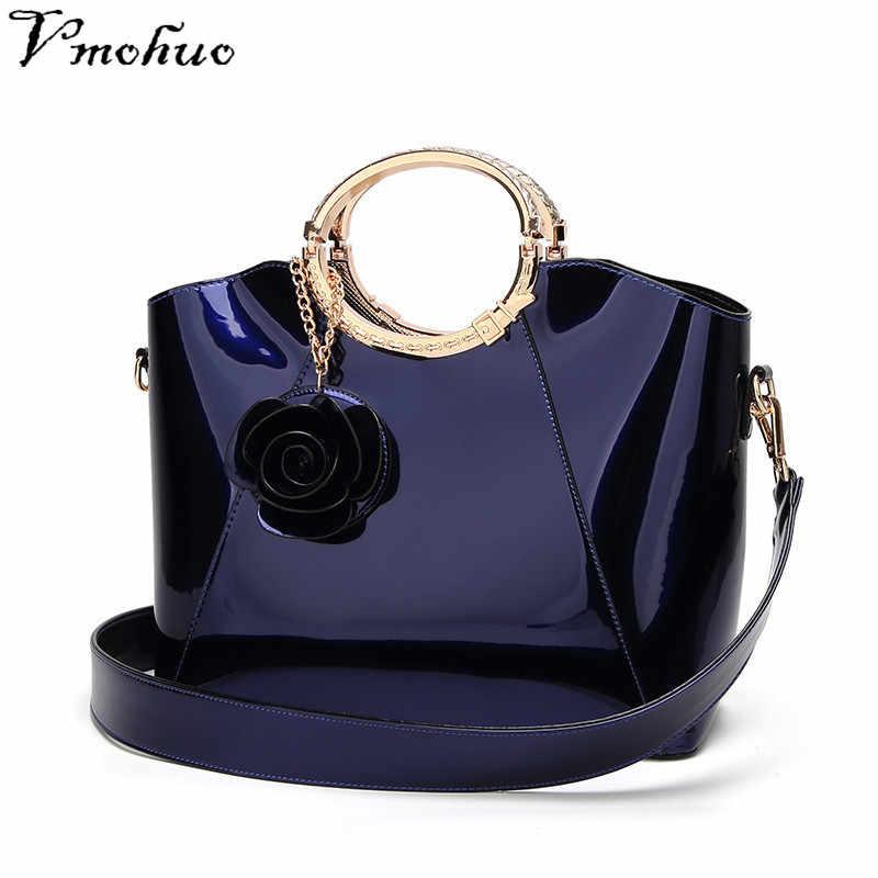 f19e78c681de Vmohuo сумки Сумки Для женщин известных брендов женские лак цвет: черный,  синий мешок Для