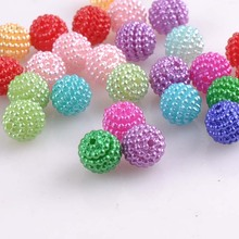 100pcs 10mm Blend Color Imitation Pearl Beads Round Beads Fit Europe Beads Jewelry making YKL0393X