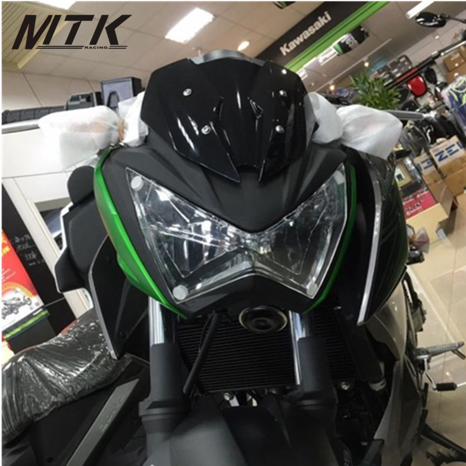 MTKRACING Z 300 800  Motorbikes Parts For KAWASAKI Z300 2015-2016 Z800 2014-2016 ABS Headlight Protector Cover Screen Lens<br>