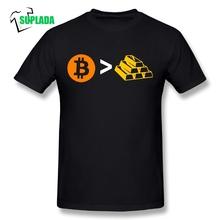 Buy Pure Cotton Men Clothing Short Sleeve T-Shirts O-Neck Bitcoin Gold T shirt Bullion Tee for $11.70 in AliExpress store