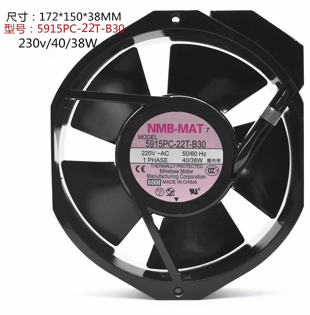 New original 5915PC-22T-B30 172MM * 150MM * 38MM 220v / 40 / 38w fan<br>