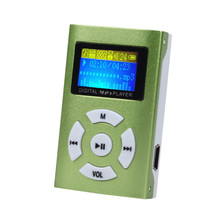 Hot USB Mini MP3 Player LCD Screen Support 32GB Micro SD TF Cardfree shipping drop shipping 0802