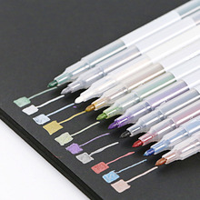 DIY Metal Mark Pen Color Marker Graffiti Pen Multicolor Para Metal oil Paint Marker School Stationery(China)