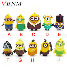VBNM cute Cartoon Pen Drive Minions Flash Memory Stick Pendrive 4Gb 8Gb 16Gb 32Gb Usb Creativo Flash Drive U Disk gift