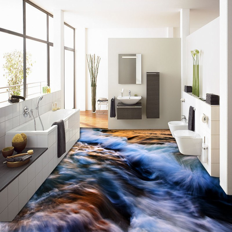 Free Shipping Beautiful magnificent floor wallpaper shopping mall porch waterproof self-adhesive floor mural<br><br>Aliexpress