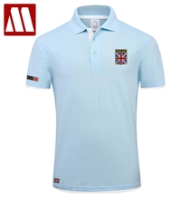 2017 New Brand Men's Polo Shirt Fashion British Flag Embroidery Summer Cotton Short Sleeve Polos Shirts Man Jersey Plus Size 3XL
