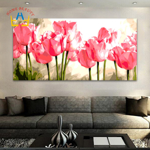 50*100 large oil painting by numbers painting calligraphy coloring by number flowers acrylic wall picture for living room DY14(China)