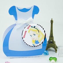 Alice  Fever Dress Gift Box Candy Box Gift Box Favor Box 5PCS/lot Birthday Party Decorations Kids Event & Party Supplies